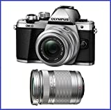 Olympus OM-D E-M10 Mark Mirrorless Micro 4/3 Digital Camera with 14-42mm (Silver, OLM10M2-BUNDLE)