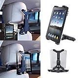 Fulltime Auto-Rücksitz-Kopfstützenhalterung für iPad 2/3/4/5 Galaxy Tablet PCs (Black)