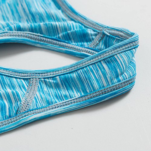 Wenyujh Femme Soutien-Gorge Sport Elastique Brassière Yoga Gym Fitness Musculation Tennis Bleu