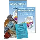 WASSERSTEINE 4-tlg-SET 300g Mineralien für Verdauung & Stoffwechsel EDELSTEINWASSER | Wasserbelebung + Aufbereitung + Trinkwasser Energetisierung | + Anleitung + Booklet | 90045