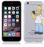 Fundas para iPhone 6 4.7'' Simpson Homer Comer Manzana Carcasa Case Gel Transparente con diseño...