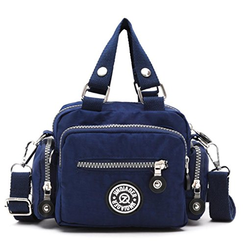 kolylong-women-waterproof-nylon-handbag-shoulder-diagonal-messenger-bag-deep-blue