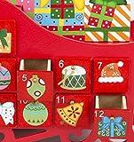 Holz Adventskalender Weihnachtskalender Schlitten 25 x 29 x 10 cm - 4