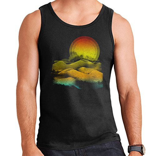 Sunny Landscape Men's Vest Black