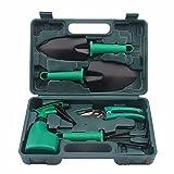 MRSLIU Garden Tools Set, 5 Stück, Gartengeräte Durable Kit - Gartenschere, Kelle, Umpflanzen Spaten, Rechen, Sprühflasche, Handwerkzeuge mit Einer Aufbewahrungsbox