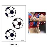 EROSPA Tattoo-Bogen temporär - Fußball Deutschland (Germany) - 6 x 10,5 cm