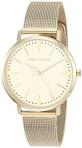 Vince Camuto Women's VC/5344CHGB Gold-Tone Mesh Bracelet Watch