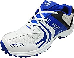 Port Womens PU White Razzor Badminton Sports Shoe (5 IND/UK)