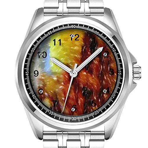 Personalisierte Herrenuhr Mode wasserdicht Uhr Armbanduhr Diamant 438.Dinner Kunst Kunst-dinner