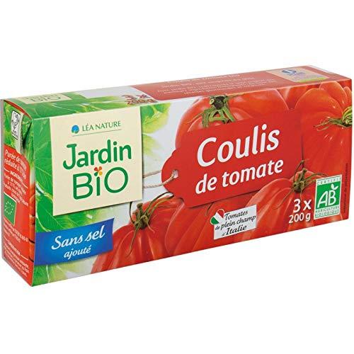 Jardin Bio - Coulis De Tomate Bio 3X200G - Lot De 4 - Livraison Rapide En France - Prix Par Lot