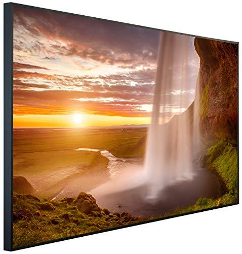 InfrarotPro | Infrarotheizung 900 Watt | Bildheizung 120x75x3 cm | Made in Germany | Geprüfte Technik | Ultra-HD Auflösung | (Wasserfall bei Dämmerung)