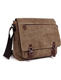 b374e7fb1ec LOSMILE Laptop Messenger Bags, Men s Shoulder Bag, 16 Inches Vintage Canvas  Bag for School