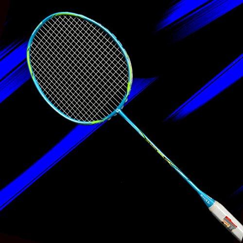 Bazaar Super Light Carbon Badmintonschläger Unisex Offensiv Badmintonschläger Laden 30 Pfund