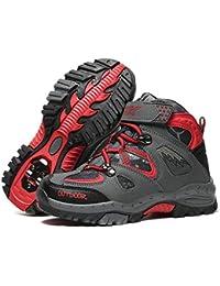 ASHION Outdoor Hiking Shoes Girls Cilmbing Shoes Boys Walking Trekking Waterproof Lightweight Hiking Boots