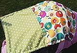 Sonnensegel UV-Schutz Äpfel grün gepunktet Baby Kinderwagen