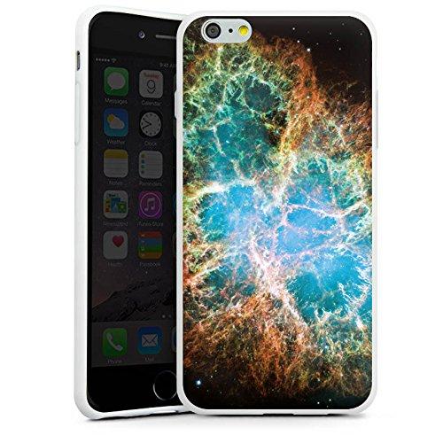 Apple iPhone X Silikon Hülle Case Schutzhülle Galaxy Muster Universum Silikon Case weiß