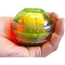 Denshine Bola para ejercicios de fortalecimiento de muñecas, LED verde translúcido, ideal para tenis y golf