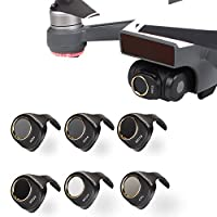 Fascinated Drone Camera Lens Filter CPL & MCUV & ND4 & ND8 & ND16 & ND32 Filters Kit for DJI SPARK 6 Pack Won't Affect Gimbal Calibration