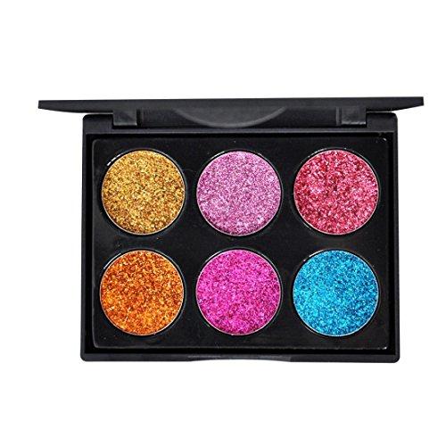 WYXlink 1 Stk Funkeln Glitzer Augen Schatten Pulver Palette Matt eyeshadow Kosmetik Make-up (A) -