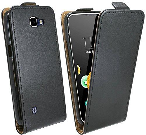 Handytasche Flip Style für LG K3 ( K100 ) in Schwarz Klapptasche Hülle Tasche Case Etui Schale Flip-Cover @ Energmix