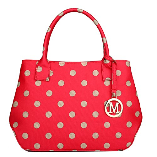 Miss Lulu, Borsa a mano donna 1633D2 Red