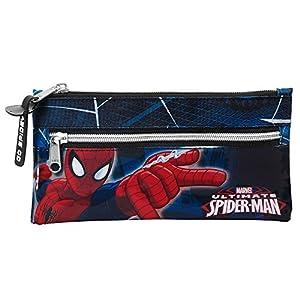 Spiderman – Portatodo Dos Cremalleras, Color Azul (SAFTA 811543029)
