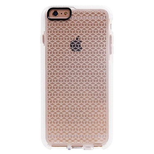 Phone case & Hülle Für iPhone 6 / 6s, Tridimensional Diamond Pattern TPU Schutzhülle ( Color : Black ) White