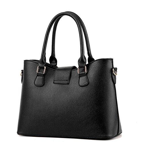 Le signore di modo un insieme tre parti della borsa di cuoio della borsa della borsa della borsa della borsa dell'unità di elaborazione delle donne Rosso