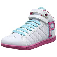 Girls Trainers Kids Black White Hi Tops Casual Light Weight Sports Shoes