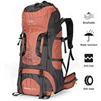 NACATIN Trekking Rucksack, Hiking Backpack 70L,Mountaineering Backpack Waterproof with Rain Cover for MenWomen,Travel Backpack for Camping Climbing Outdoor Sports