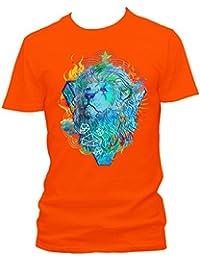 Lion fire Cooles Party Herren Shirt