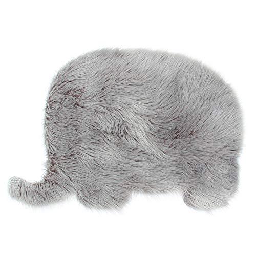 Shag Teppich Acryl (MHJY Kunstfell-Teppich, flauschiger Fell-Teppich, für Kinderzimmer, Seidig, Shag Rug Weicher Teppich für Schlafzimmer, Wohnzimmer (61 x 91 cm))