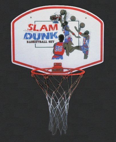 "Liberty Imports Slam Dunk Indoor/Outdoor Basketball Hoop Set 19"" Backboard + 11"" Steel Rim"
