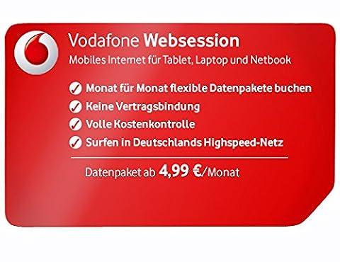 Vodafone WebSessions Kombi Sim-Karte mit