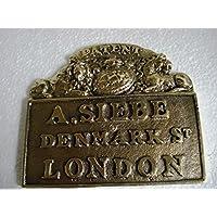 SIEBE GORMAN - Placa de latón, diseño de Londres de Brass Blessing, color marino, náutico, barco, casco de buceo, barco y marítimo (5121)