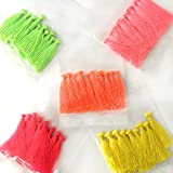 #1: Embroiderymaterial Tassels Combo Pack for Craft,Earring Making and Decoration Purpose(50 Pieces 10 Pieces Each Color)