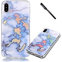 Tifightgo iPhone X Hülle Marmor,Ultra Dünn Case für iPhone X,Premium Elegant Fashion Schön Farbe Glänzend Marmor... preisvergleich bei billige-tabletten.eu