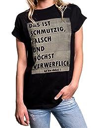 Tumblr Shirt mit Spruch - Das ist schmutzig - Oversize Longshirt große Größen schwarz