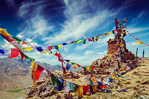 Postereck - Poster 2595 - Gebetsfahnen, Buddhismus Himalaya Bergsteigen Religion Größe 3:2-91.0 cm x 61.0 cm