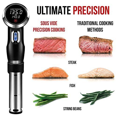 Jackeylove Sous Vide Precision Cooker, Quiet & Accurate Pod Immersion Circulator Precision Cooker-mit Digital LCD Display für Präzise und Even Kochen
