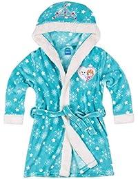 Disney La Reine des neiges Robe de chambre à capuche polaire, toucher doux 3/4/5/6/8/10 ANS