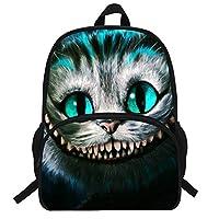 VEEWOW 16-Inch School Backpack for Kids Animal Cat Print Bag for Kids Boys Girls (D963)