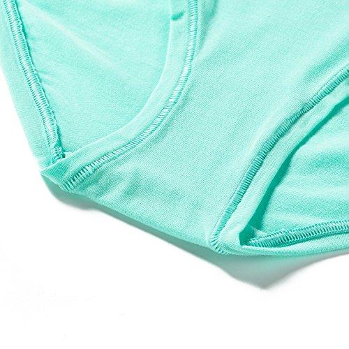 Lapasa Slip Donna Pack da 2 Bikini Vita Bassa Briefs Cotone Biancheria Intima Mutandine Verde