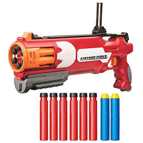 BuzzBee PrecisePro Stryker Force Blaster - Nerf kompatibler Revolver-Blaster
