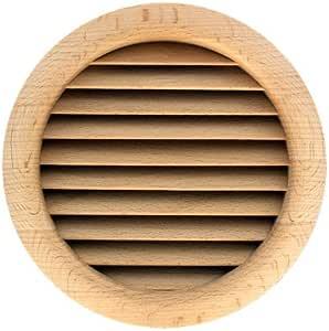 Grille carr/ée en bois 172x172mm trou 160x160mm /à encastrer Sapin Grille de ventilation bois
