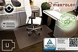 Transparente Bodenschutzmatte, 120 x 130 cm, Sonderform