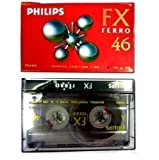 5 PHILIPS BLANK CASSETTE AUDIO TAPES HIFI CAR RECORDER FX FERRO 46 HIGH QUALITY