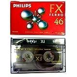 5x Audiocassette Vergini Philips per Registratore Auto FX FERRO 46 Alta Qualità