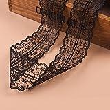 Spitzenbordüre Vintage 10 Meter Spitzenborte Spitzenband Dekoband,Spitze, Schleife,Schleifenband Weihnachts Hochzeit Borduere Geschenk (schwarz)