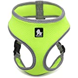 Comfortable Mesh Dog Harness,Kaka mall Soft Air Dog Harness Vest No Pull Padded for Small Pet Cat Dog and Puppy Green M